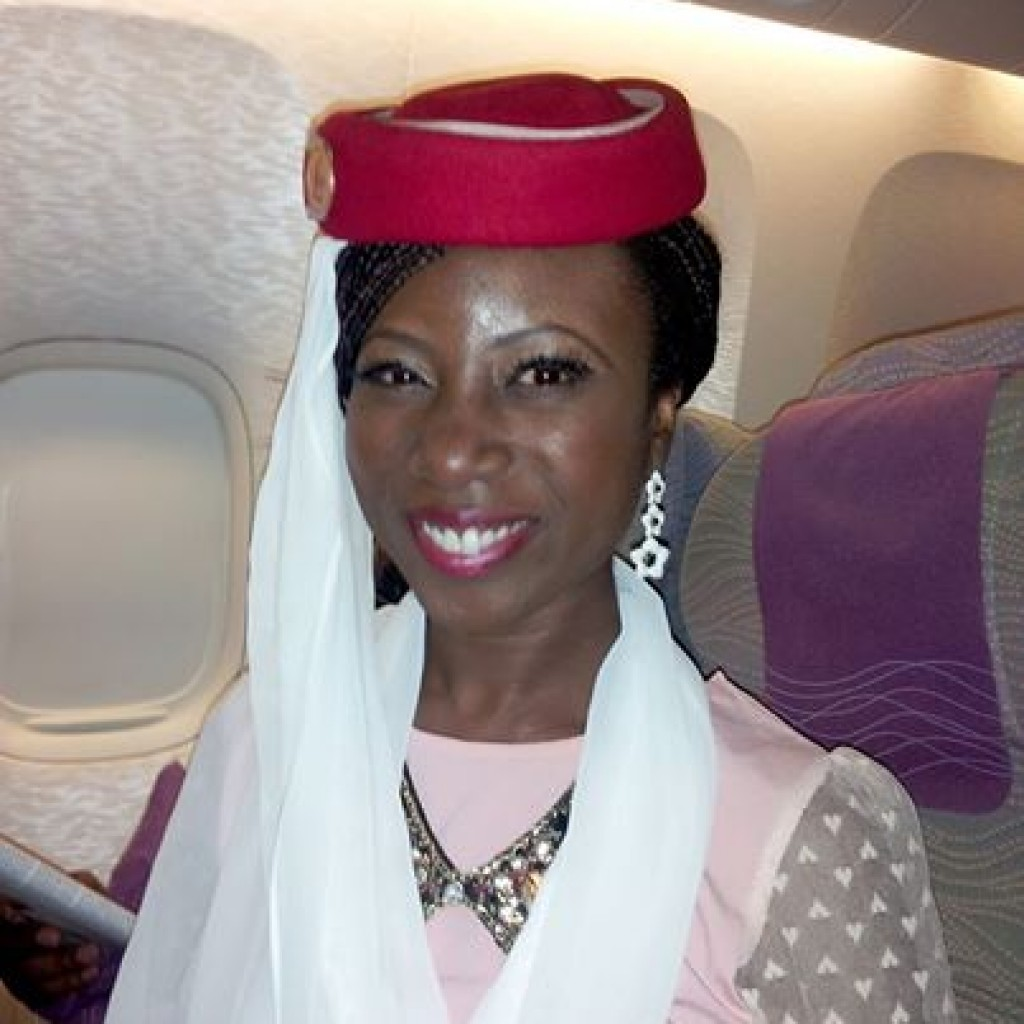 Emirates Flight attendant for a few second