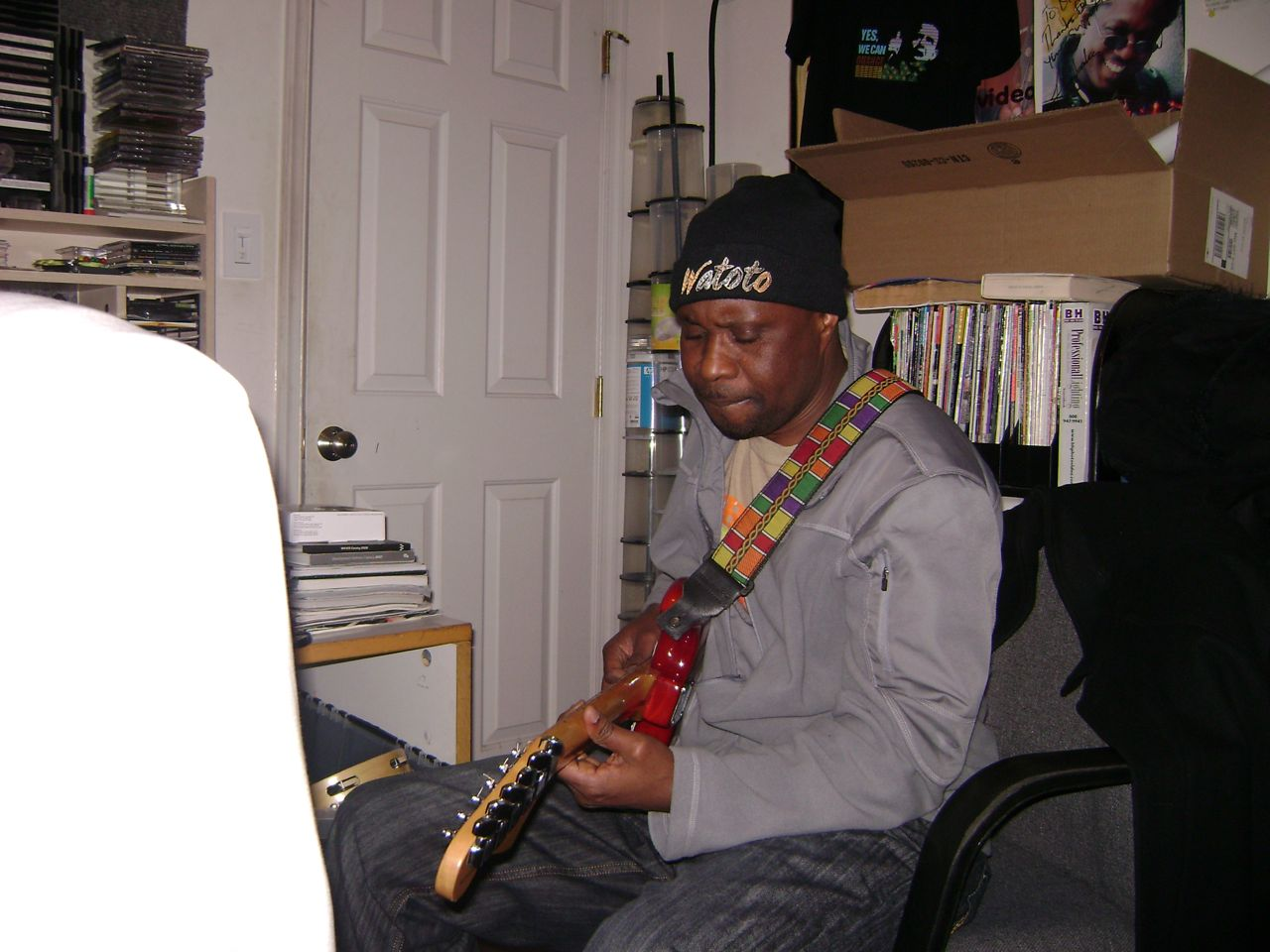Olagbara Recording Session Bowie MD November 7th 2009 - 03 John Bashenghezi