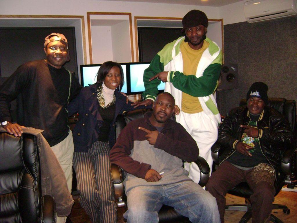 Good times Recording Olagbara with Tangelo, Lokito, Bashengezi