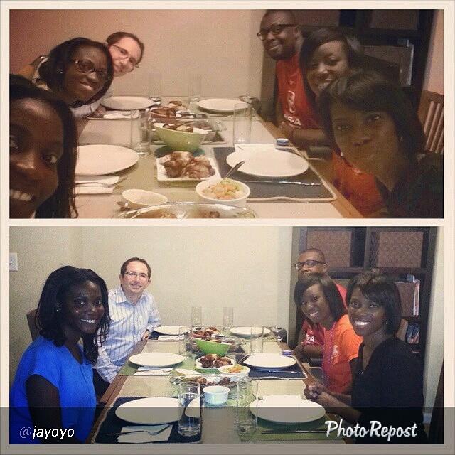 Family Dinner Tolu Eniola Detoun Ayo Josh