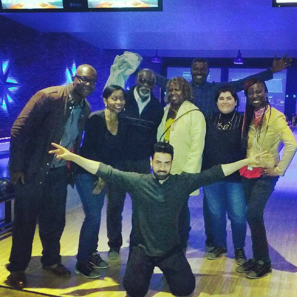Bowling with my Papa and VOA Creatives