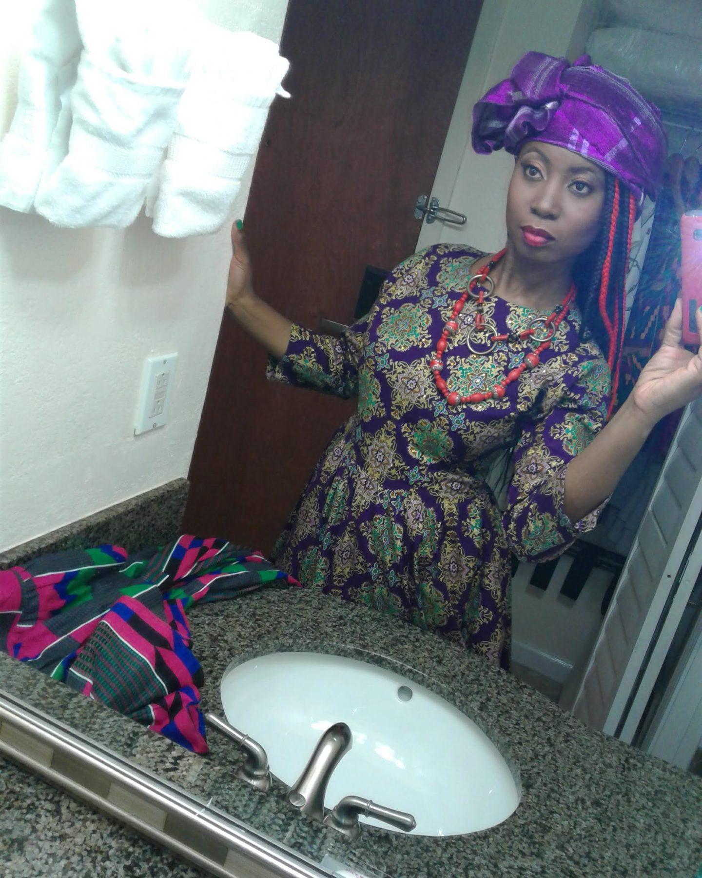 Funky Aso Oke Headtie Headwrap
